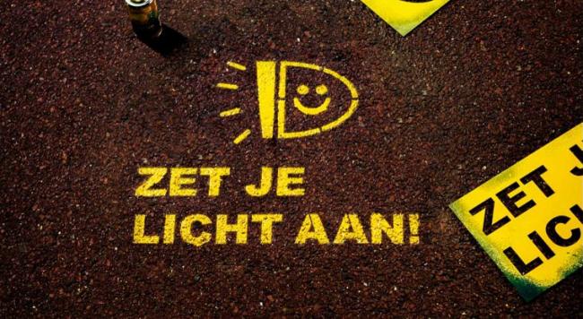 Licht Voor Fiets : Zet je fiets licht aan!